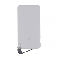 MFi  5000mAh Portable Powerbank with Built-in  Lightning Cable