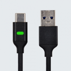 USB C to USB-A 3.0 ( 3.1 Gen  1)Data Sync Charge Cable with Pulsing LED